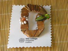 SPILLA - Lamiera di rame lavorata a mano e elementi decorativi fatti a mano