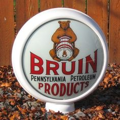 "Bruin Pennsylvania Products - 15"" Gas Pump Globe Lenses -  Made by Pogo's Garage"