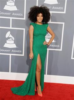 Solange Knowles attends the 55th Annual Grammy Awards at Staples Center in Los Angeles on Feb. 10, 2013.