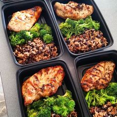 Well here's this week's version of #weeklymealprep I'm trying to go for a little more complex carbs and a little less leafy green since I've been having problems with my stomach. Wish me luck!  #mealprepsunday #chicken #rice #blackbeans #paleo #eatclean #stayhealthy #riseandgrind #earlymorning #twojobs #keepmovingforward #absaremadeinthekitchen #broccoli #vacation #seattle #stoked by z_nordyke_c