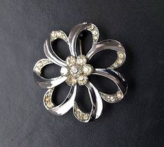In Stock: £7.90. 1950's diamante brooch. See www.hurdyburdy.etsy.com for true vintage fashion & accessories. Get 10% off with coupon code: PIN10