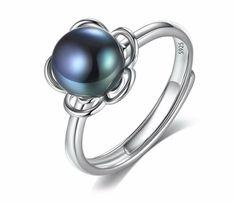 Silberring 925 Sterling Silber Süsswasser Perle Rhodiniert Cocktail Ring Pearl
