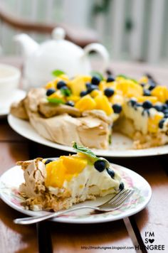 Blueberry Mango Pavlova