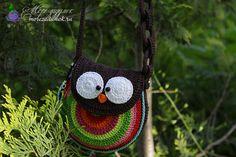 Сумочка сова крючком, описание сумочки совы, схема сумочки совы | MoreZadumok.ru - сайт о рукоделии с описаниями и схемами.