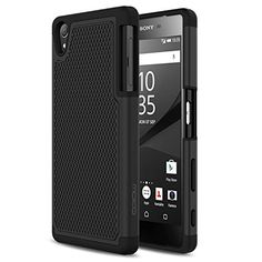 Sony Xperia Z5 Case  MoKo [Anti Drop] Hard Polycarbonate  Silicone Protector Bumper Cover for Sony Xperia Z5 5.2 Inch Smartphone 2015 Edition BLACK (Not Fit Z5 Compact & Z5 Premium)