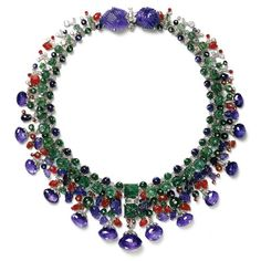 Cartier's famous Tutti Frutti necklace made for Daisy Fellowes in 1936 #vintage #jewelry