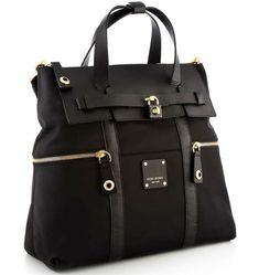 8a77ab0fbc3 HENRI BENDEL Jetsetter Convertible Nylon Backpack Black Gold Hardware w/  Receipt