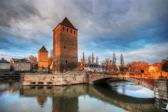 | ♕ | Strasbourg Guard towers, Alsace, France | by © Rich2012