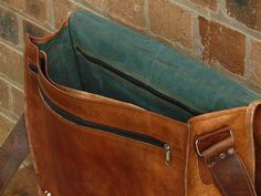 Leather Briefcase Bag Leather Messenger Bag by creativeleather, $75.00