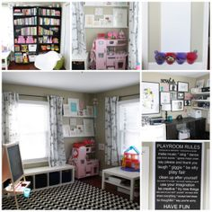 Amazing playroom/office shared space!