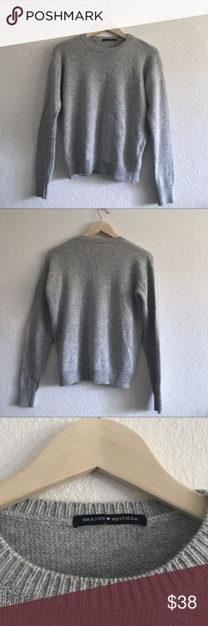Brandy Melville Bernadette grey knit sweater Brandy Melville Bernadette grey knit sweater  | new without tags | fits xs - m best Brandy Melville Sweaters