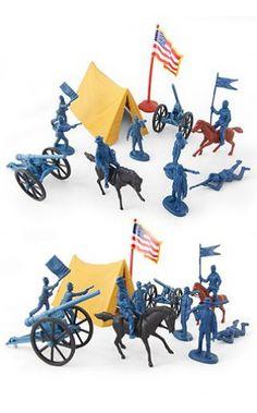 Civil War Union Camp Playset Figures | Military & Plastic Playsets | TinToyArcade |719875224526