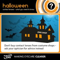 This October, don't risk your Halloween costume becoming permanent, take proper care of your eyes. Halloween Contacts, Halloween Eyes, Types Of Contact Lenses, Cosmetic Contact Lenses, Contact Lens Solution, Contact Sport, Eye Infections
