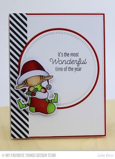 Santa's Elves, Trim the Tree, Radial Stitched Circle STAX Die-namics, Circle STAX Die-namics, Santa's Elves Die-namics - Julie Dinn   #mftstamps