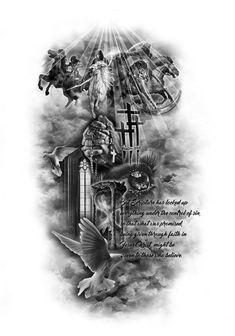 Tattoos And Body Art tattoo designs gallery Angel Tattoo Designs, Tattoo Sleeve Designs, Tattoo Designs Men, Art Designs, Warrior Tattoos, Badass Tattoos, Body Art Tattoos, Angel Warrior Tattoo, Angel Tattoo Men