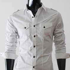 Spin on a classic white shirt.