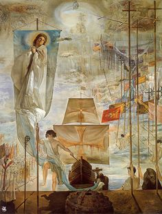 The Discovery of America by Christopher Columbus - Salvador Dali 1959 - This painting is 14 feet tall by 9 feet wide.