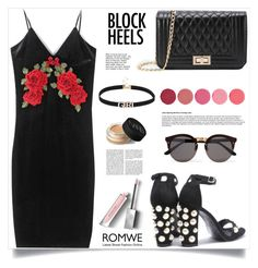 """Step Up: Block Heels, Romwe!"" by samra-bv ❤ liked on Polyvore featuring Burberry, Kjaer Weis, NARS Cosmetics, Illesteva, blockheels and polyvorecontest"