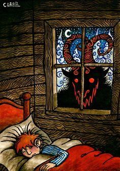 Julbocken the Yule Goat Dark Christmas, Christmas Art, Arte Horror, Horror Art, Yule Goat, Satanic Art, Creepy Art, Monster Art, Illustrations