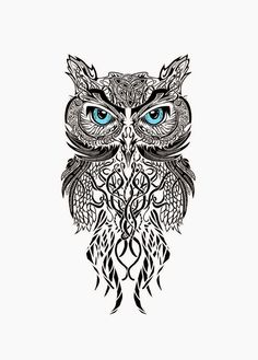 Owl tattoo design                                                                                                                                                                                 More