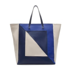 SHOPPER BAG WITH THREE SHADES OF BLUE