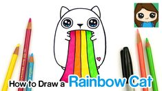 Learn how to draw this cute Rainbow Ralphing Cat Plush easy, step by step from Exploding Kittens. Kawaii white cat throwing up a rainbow. White Kittens For Sale, Black And White Kittens, Kitten Drawing, Kitten Gif, Cat Throwing Up, Cute Drawings Of Love, Word Cat, Kitten Wallpaper, Exploding Kittens