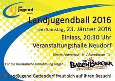 Die Babenberger beim Ball der Jandjugend Gattendorf www.diebabenberger.at Live, Young Adults, Poster