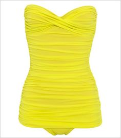 Norma Kamali Walter Mio Ruched Bandeau swimsuit, $448, brownsfashion.com. so cuutee...but soo expensive!