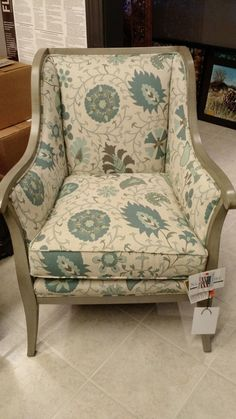 This beautiful chair adds subtle color to your room, without overtaking it. | Deloufleur Decor & Designs | (618) 985-3355 | www.deloufleur.com