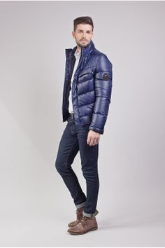 Doudoune bleu HB1211 Cent's - Prestige Cuir Boy Fashion, Mens Fashion, Fashion Outfits, Moncler, Winter Jackets, Prestige, Collection, Purple, Boys