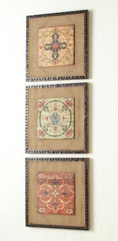 Vertically layer different versions of the same art for a bold, yet cohesive look. Just saw the top one at pier 1 and thought it was cute! Diy Wall Art, Diy Art, Decorating Tips, Decorating Your Home, Interior Decorating, Medallion Wall Decor, Parasols, Antique Metal, Decorative Accessories