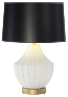Reiley Table Lamp, Black Shade