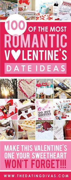 Romantic Valentine's Date Ideas. Lots of great ideas to spoil your valentine! #valentine #date
