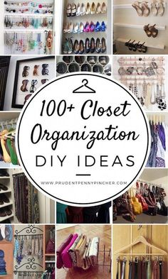 100 Best DIY Closet Organization Ideas Organize your closet for less with these DIY ideas. These closet organization ideas are great for small closets and will maximize your space. Small Closet Organization, Organization Hacks, Bedroom Organization, Organizing Ideas, Bedroom Storage, Cool Diy, Shelf System, Cleaning Painted Walls, Pad