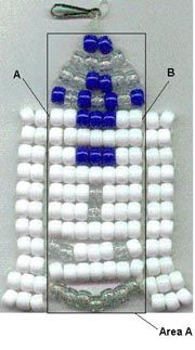 R2-D2 bead craft