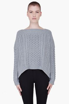 fashion & style - ShopStyle: Marc by Marc Jacobs Grey Knit Geraldine Sweater