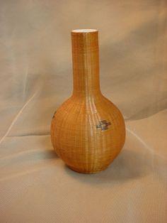 Vtg Antique Flower Vase Porcelain Chinese Fine Basket Woven Sheath 5 inch