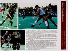 Athena yearbook, 2008. The Ohio University field hockey team take control of the field. :: Ohio University Archives