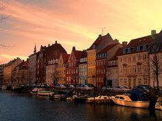 Sunset at Christianshavn, Copenhagen by serge y., via Flickr