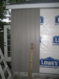 vertical vinyl siding.