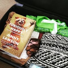 """""""My travel book describes it perfectly :) Furiously Happy, Snack Recipes, Snacks, Travel Advice, Chips, Packing, Books, Fun, Bag Packaging"""