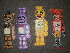 Five Nights At Freddy's Animatronics by Pumpkin-King-Zak.deviantart.com on @DeviantArt  Fnaf animatronics, hama / perler bead
