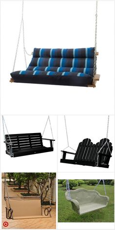 Outdoor Patio Bar, Outdoor Living, Outdoor Decor, Hammock Swing Chair, Rope Swing, Bungalow Porch, Indoor Swing, Diy Garden Furniture, Small House Design
