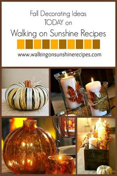 Fall Decorating Ideas featured on Walking on Sunshine Recipes.