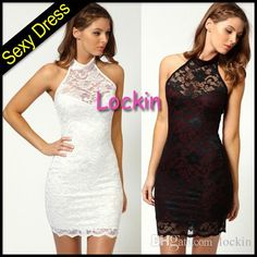 New Sexy Nightclub Sleeveless Lace Blackless Dress Package Buttocks Dress Blasting Low Prices Shop with 100% Guarantee from Lockin,$8.38 | DHgate.com