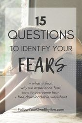 Fear is a highly debilitating energy and can truly keep us from living our fullest potential. In this post, we talk about what fear is, why we experience fear, and how to overcome it. I will also share with you 15 insightful questions that will help you What Is Fear, Fear Of Love, Affirmations, Was Ist Pinterest, Self Development, Personal Development, Inner Strength, Spiritual Growth, Spiritual Guidance