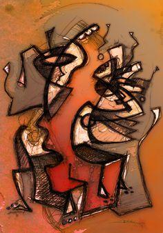 "(c) Cédric Bescond - ""La rupture"" - 2013 mixed media - #Artiste #Breton #Brittany #Bretagne #Brest #Art #Peinture #Numérique"