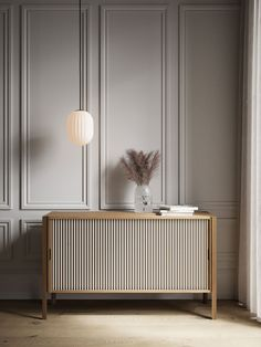 Pleat Cabinet is a design looking both backward and forward in time. The result is a cabinet that rethinks functionality while retaining the classic lines. Foyer Design, Wall Design, House Design, Sideboard Decor, Retro Sideboard, Neoclassical Interior, Interior Decorating, Interior Design, Wooden Cabinets