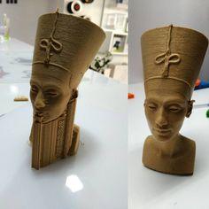 Nefertiti #nefertiti #impresion3dcordoba #impresion3d #hephestos2 #pla #impresora3d #ciudatel #escultura #m5 #bq #3d #3dart #3dprint