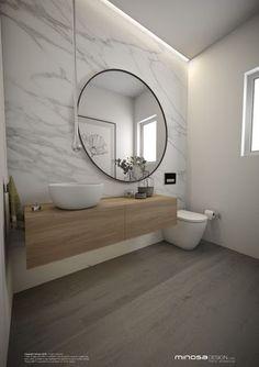 GroBartig Badezimmer Konzept Mit Kompletter Wand Im Marmor Carrara Look. Dies Kann  Man Mit Ariostea